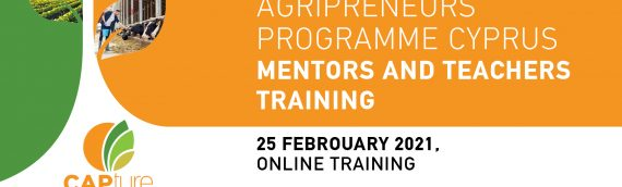 Online Training of Mentors and Teachers, Young Agripreneurs Programme Cyprus, 25 February 2021
